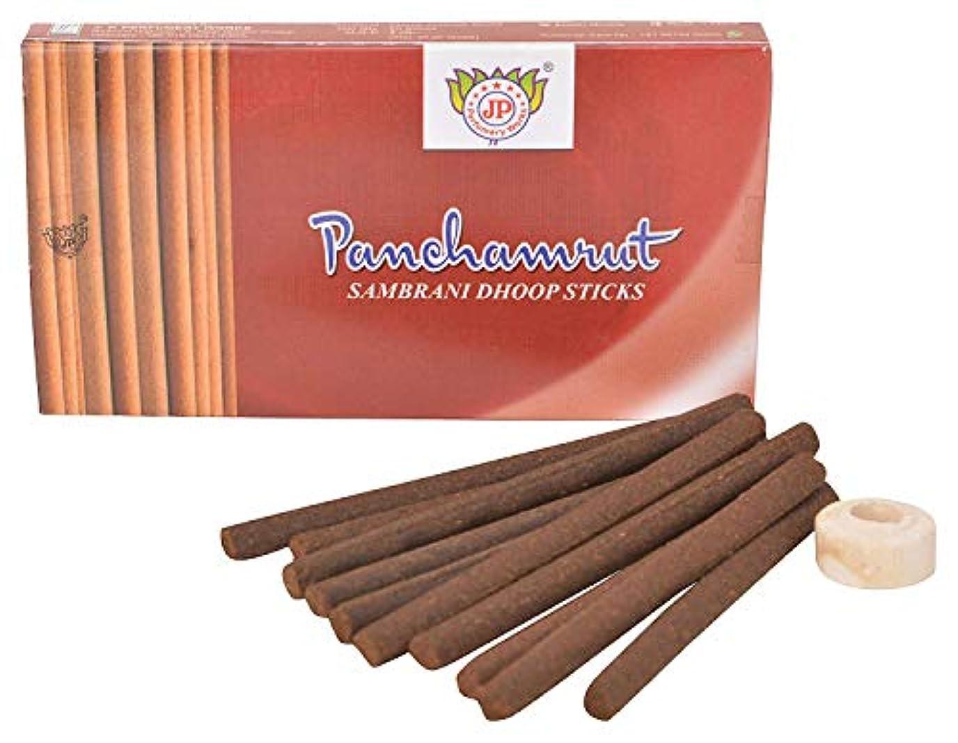 寮パッド翻訳するJ.P.Perfumery Works Panchamrut Sambrani Dhoop Sticks - Pack 12