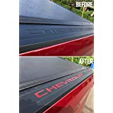 SF Sales USA - Red ABS Plastic Bed Rail Cap Tonneau Cover Letter Inserts for Silverado 2019-2020 (Includes 2 Sets)