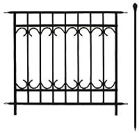 門扉付きの柵が作れるロゼッタシステムフェンス アベニュー 延長セット ブラック SSIPN-7021ESET-BLK