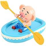 ZUOMA面白い玩具 犬玩具 豚玩具 浴室玩具 キッズ お風呂水遊び 発条玩具 ボートを漕げる動物 (豚)