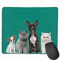 マウスパッド 可愛いイヌ ネコ 覗き ゲーミング シンプル 品質良い 高級感 傷防止 耐久性 速乾性 レーザー&光学式マウス対応でき ズレにくい 綺麗