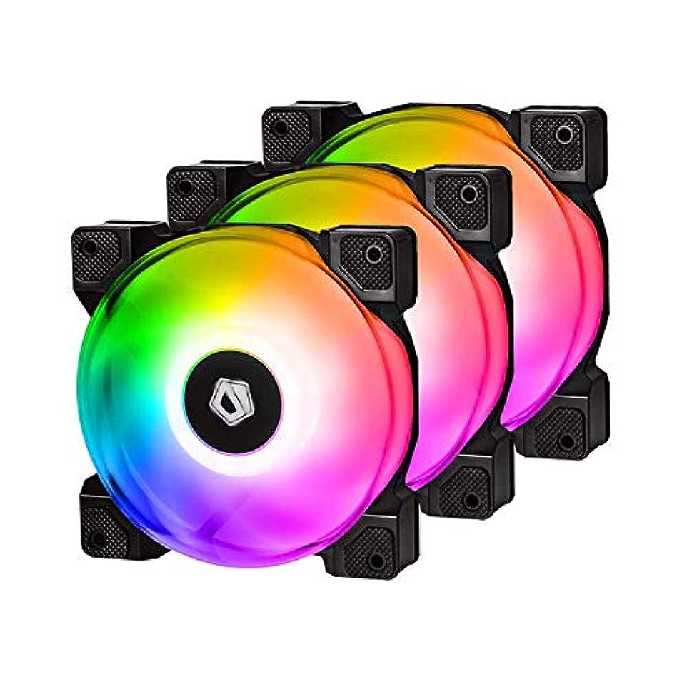 内陸シュートなぞらえるcasualcatch PCケース用ファン RGB PWM 120mm CPUファン 超静音 2000rpm 防振ラバー搭載 冷却ファン CPUクーラー 薄型 パソコンクーラー 自作PC ファン3枚セット