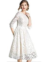5dd8a8541fc0b Amazon.co.jp  ホワイト - ワンピース・チュニック   ワンピース・ドレス ...