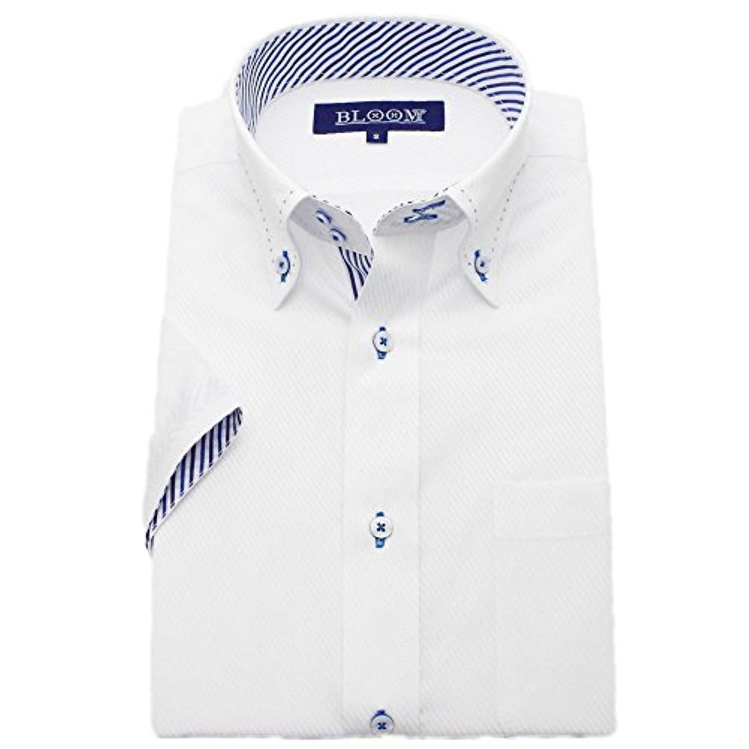 狂気ビジュアル音(ブルーム) BLOOM 2018夏 オリジナル 半袖 ワイシャツ クールビズ yシャツ S/M/L/LL/3L/4L/5L/6L 10柄 形態安定加工 ボタンダウン