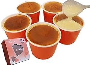 Bon'n'Bon(ボナボン) レンジでチン あったかとろける 新食感 スフレ チーズケーキ 「チーズココ」x5個(100gx5個) ギフトボックス入り