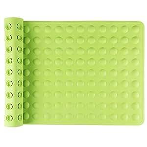 IRETION お風呂マット 浴槽用 滑り止めマット 転倒防止 介護用品 痛くない 吸盤付き 40×70cm 天然ゴム製(グリーン)