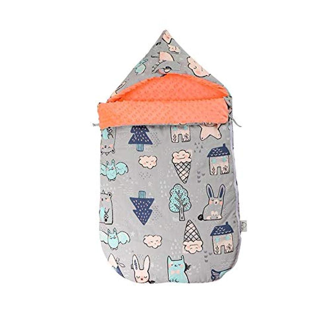 発見する新年愛されし者ベビーコットン寝袋、秋と冬の屋外屋外防寒デュアルユース新生児暖かい寝袋を厚く