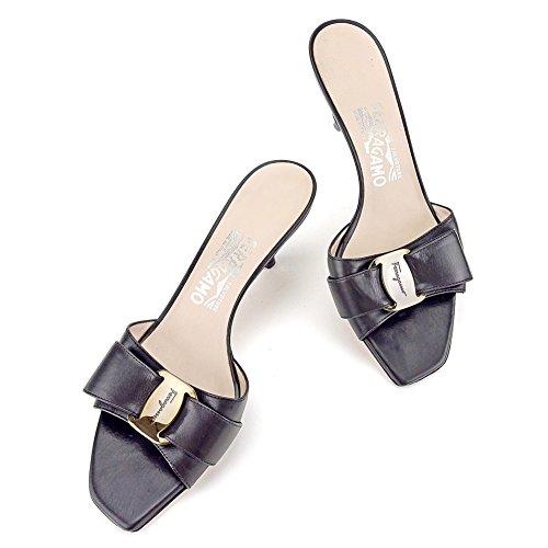 サルヴァトーレ フェラガモ Salvatore Ferragamo ミュール シューズ 靴 レディース ♯7C サンダル ヴァラ金具 中古 美品 T4524