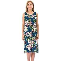 5fc3f542b0b Bearsland Women s Sleeveless Maternity Dress Empire Waist Nursing  Breastfeeding Dress Summer