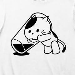 (クラブティー) ClubT コップの水とねこ Tシャツ(ホワイト) M ホワイト