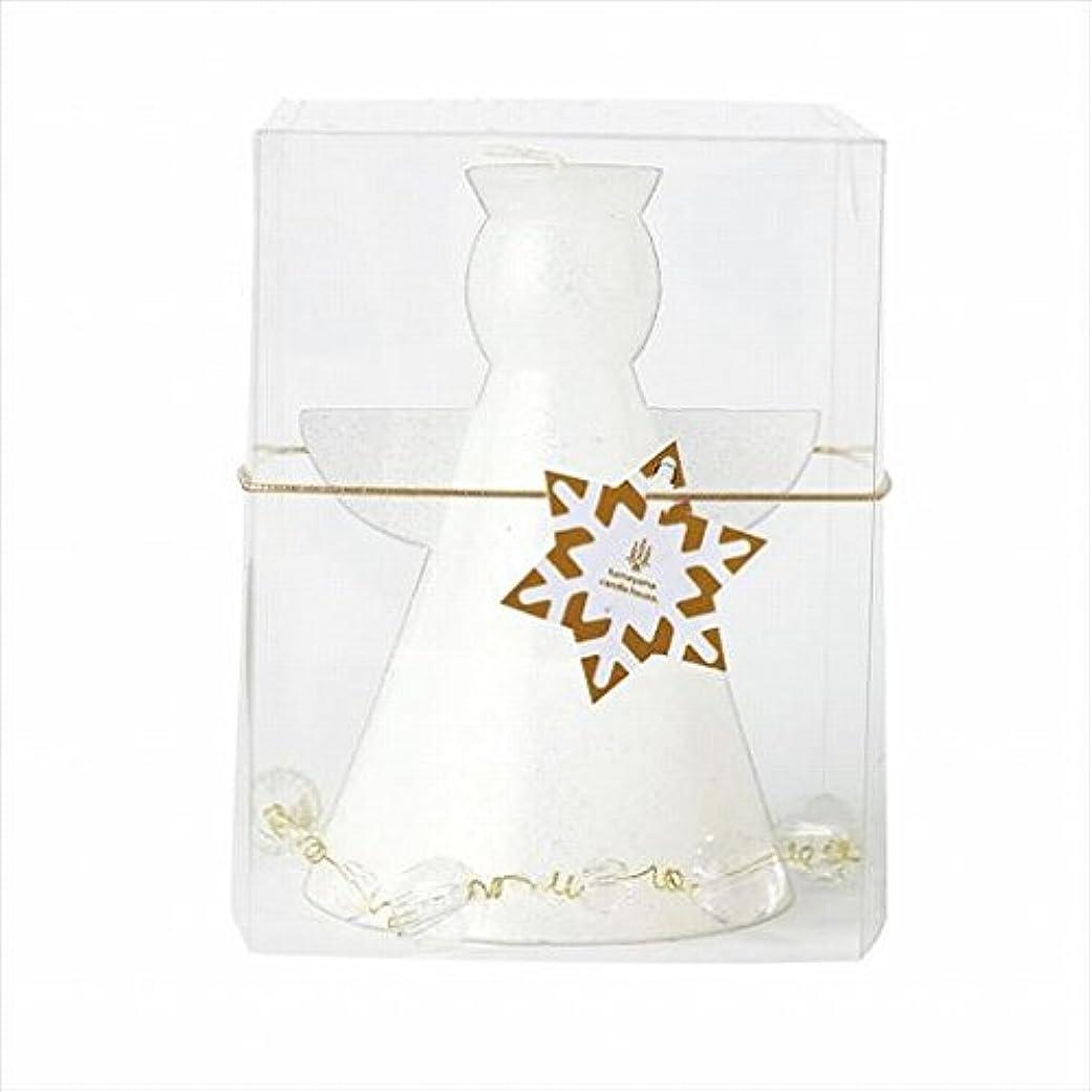とらえどころのないパスタ付き添い人カメヤマキャンドル(kameyama candle) クリスタルアンジェリカ 「 ホワイト 」