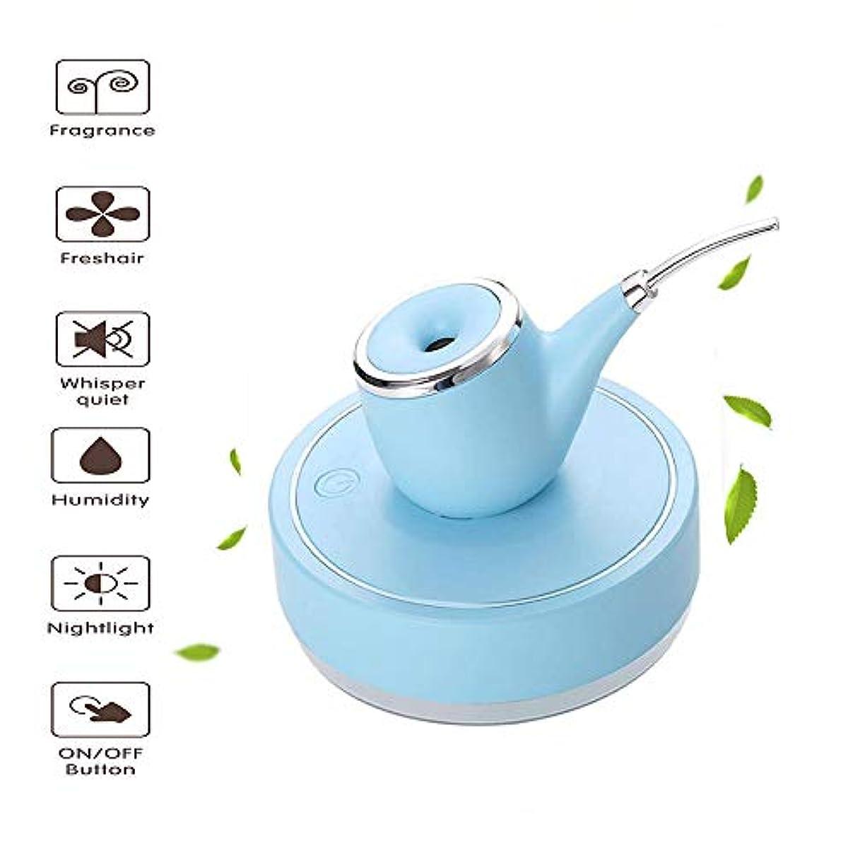 制限精巧な違反アロマテラピー加湿器 - 空気清浄機 - 自動水遮断 - USBパワーパイプ形状 - ファミリーヨガオフィススパベッドルームベビールーム(3色オプション),Blue