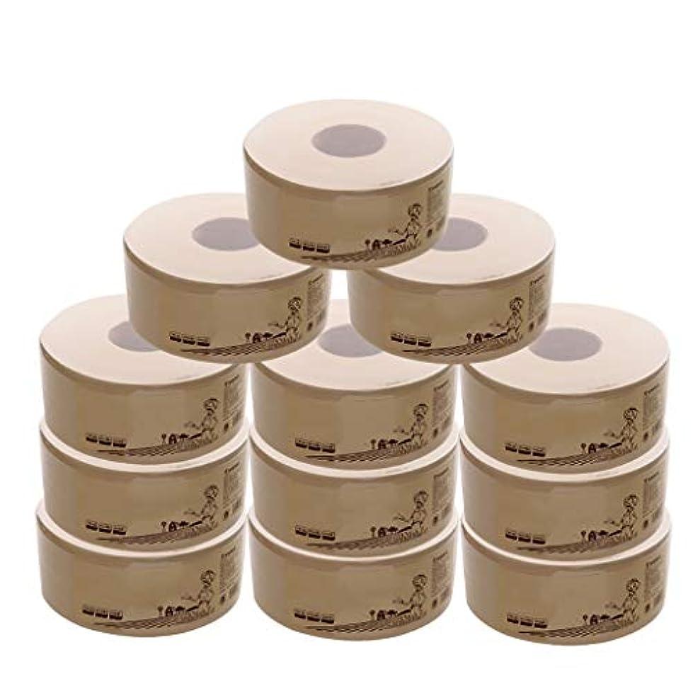 窒素レベルしつけ3層、12ロール、家庭用トイレットペーパー、コアロール紙、パルプなし