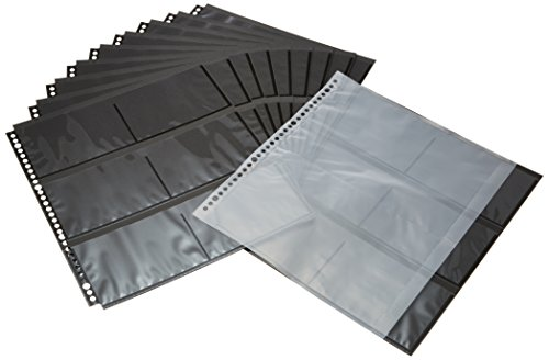 HAKUBA フォトシステムファイル SF-1替台紙 EL判用 黒台紙タイプ 519204