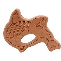 Dabixx ウッドテイザー サメユーカリティー 赤ちゃんの看護玩具噛むおもちゃの歯ぬいぐるみ玩具 -