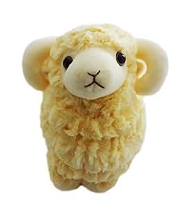 Cosjob 羊 ぬいぐるみ 大きめ フエルトシート セット (A820) 未 未年 干支 十二支  かわいい ひつじ ヒツジ ビッグサイズ big 2015年 新年 お正月 飾り 置物 お年賀 幸福 福 シート 壁飾り もこもこ ふわふわ ホワイト イエローシープ sheep 2015  ( クリーム )