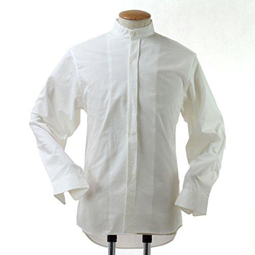 スタンドカラーシャツ 白 長袖 Lサイズ