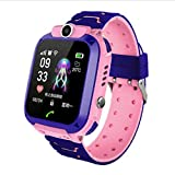Watch Clocks Phone Watch, Kids Watch, GPS Smart Positioning Watch,Waterproof Kids Smart Watch Blue,Colour Name:Pink (Color : Pink)