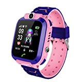 Watch Clocks Phone Watch, Kids Watch, GPS Smart Positioning Watch,Waterproof Kids Smart Watch Blue,Colour Name:Pink (Color :