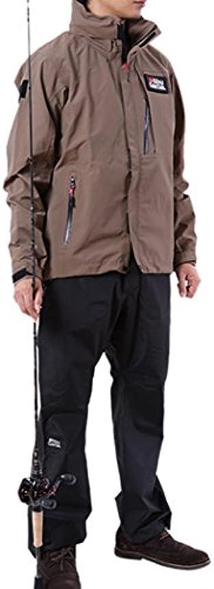 耳練習耳アブガルシア(Abu Garcia) レインウエア スタンダードレインスーツ カーキ x ブラック パンツ M 釣り