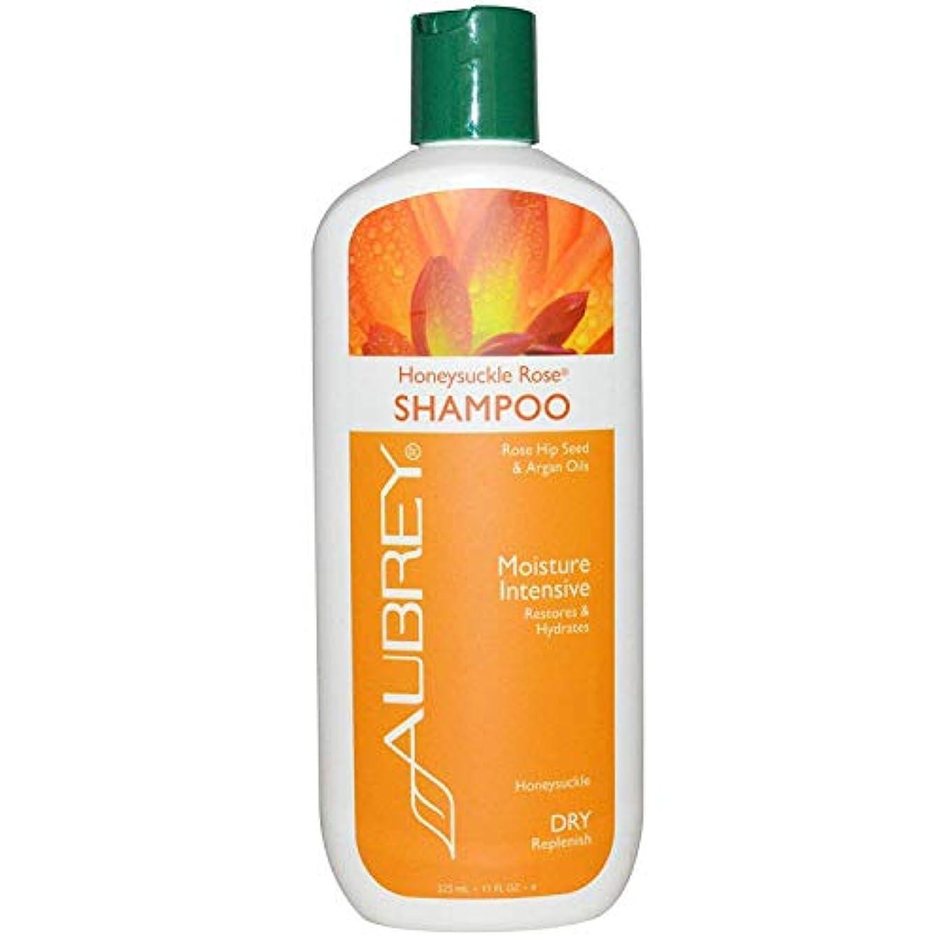 海外直送品 Aubrey Organics, Honeysuckle Rose(ハニーサックル?ローズ)シャンプー、潤い集中、ドライヘア用、11液量オンス(325 ml) [並行輸入品]