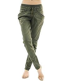 GETS(ゲッツ) パンツ カーゴ チノパン ロングパンツ スリムパンツ ポケット付き テーパードパンツ ウエストゴム 美脚 ウエストゴムパンツ ロングパンツ 通勤 通学 オフィス レディース