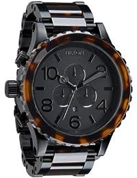 ニクソン NIXON クォーツ腕時計 クロノグラフ ベッコウ柄 51-30 CHORONO A083-1061 並行輸入品 BLACK/DARK TORTOISE