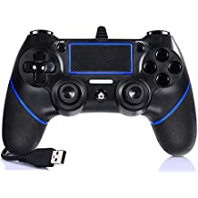 FONLAM PS4 PS3 コントローラー DUALSHOCK 4 有線コントローラー 2重振動機能搭載 PlayStation 4 ゲームパッド マット質感 PS4/PS3/PS4 Slim/PS4 Pro/PC 360 Windows 7/8/10 対応 RGBライトバー 砂のような感触 PS4ジョイスティックデュアル バイブレーションモーター ゲームコントローラー 安定性抜群 使用簡単 2m USBケーブル付き