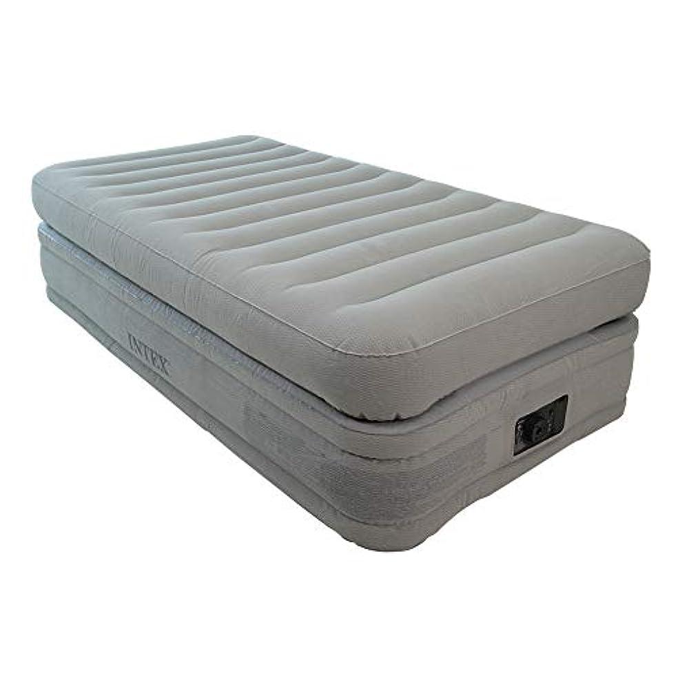 エジプト人量で伝導率[ インテックス ] Intex エアーベッド 電動 プライムコンフォート TWIN(シングル)64443 PRIME COMFORT ベージュ エアベッド エアーマット 寝具 [並行輸入品]