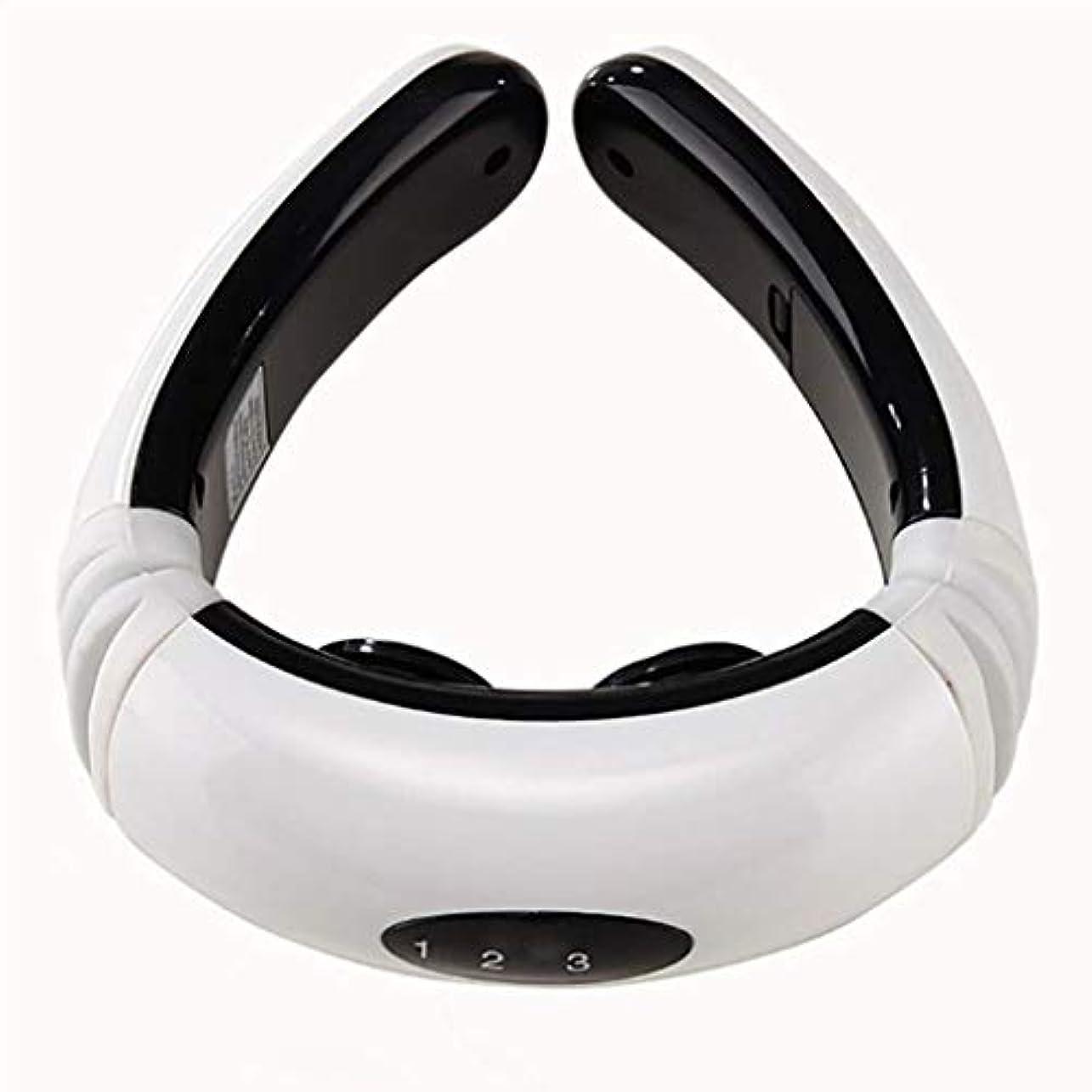 スピーチバイオリニスト汚染車ホームオフィスで使用されるネックマッサージャー、3D子宮頸マッサージ、Pulseパルスディープマッサージ、筋肉痛を和らげる、6モード、