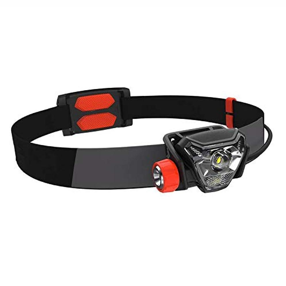 ひねりイディオム過激派Nosterappou 300ルーメン、明るさ調節、USB充電スポーツヘッドライト、長距離ヘッドマウント夜間走行/キャンプ/釣り防水スポーツヘッドライト軽量で、着心地が良い