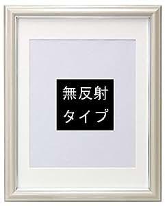 万丈 肖像額縁 アイボリー 八〇(4切) サイズ 無反射タイプ