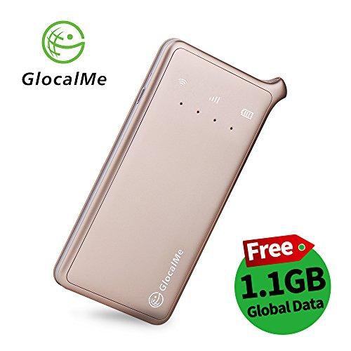 GlocalMe U2 モバイル Wi-Fi ルーター 1.1ギガ分のグローバルデータパック付け 高速4G LTE ポケットwifi simフリー 世界100国・地区以上対応 フリーローミング 国内・海外旅行最適 iPhone・Xperia・HTC・Galaxy・iPadなど全機種対応 超軽くて携帯便利 (ゴールド)