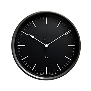 Lemnos RIKI STEEL CLOCK 電波時計 ブラック WR08-24 BK