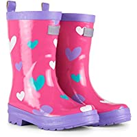 Hatley Little Girls' Classic Printed Rain Boot Pink