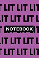 Notebook: Lit Typography Meme Pattern