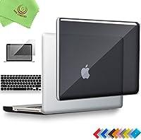 ueswill 3in1光沢クリスタルクリアSee Throughハードシェルケースとシリコンキーボードカバーfor MacBook Pro +マイクロファイバークリーニングクロス MacBook Pro 13'' (Non-Retina) UES03C13P3-01