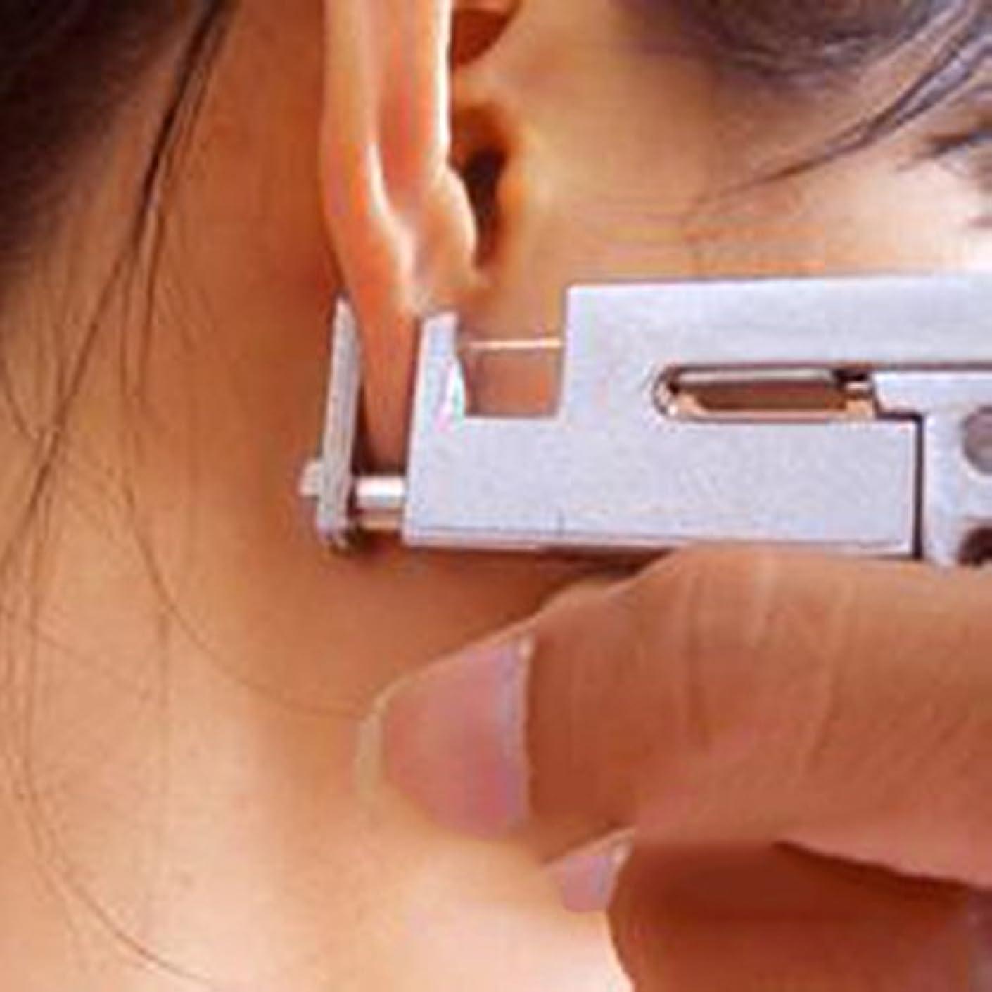 ヒゲ結び目共産主義プロの耳ボディ鼻ピアスガン 工作機械キットセット+ 98個スチールスタッド 使いやすい