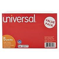 Universal Products–Universal–Unruledインデックスカード、5x 8、ホワイト、500/パック–1パックとして販売–必要不可欠なツールの生徒とスピーカー。–environmentally-friendlyインデックスカードHelp You Keep Yourノート整理されます。- - - - - - -
