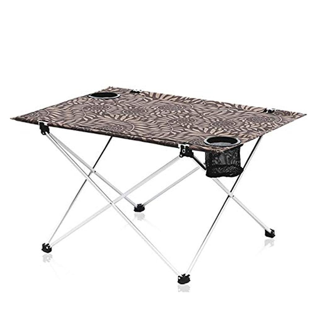 ディプロマ土曜日いろいろZR 折りたたみ式ポータブルキャンプテーブルアルミ折りたたみ式テーブル、折りたたみ式キャンプピクニック用テーブル、ポータブルコンパクト軽量折りたたみ式折りたたみ式テーブルバッグ - コンパクトで軽量のポータブルキャンプ、ビーチ、アウトドア
