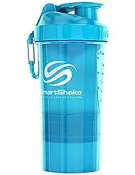 SmartShake(スマートシェイク) プロテインシェイカー O2GO【NEON BLUE】600ml