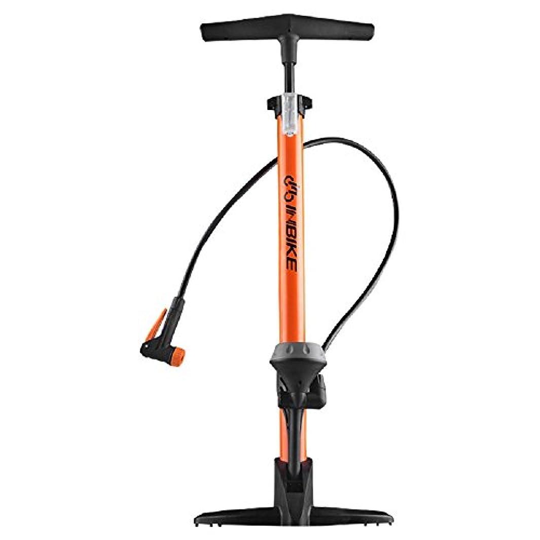 クラックポット困惑した奨学金自転車 高圧空気入れ エアフロアポンプ 仏式/米式バルブアダプター エアゲージ