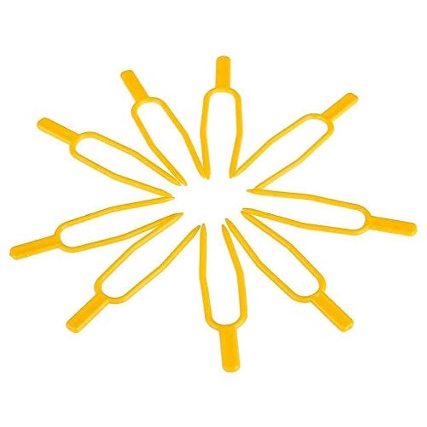 ウォーターフロント重なる会話型chaselpod プラントクリップ イチゴフォーク 固定フォーク ガーデンツール DIY 工具 園芸用便利クリップ 100個入りセット