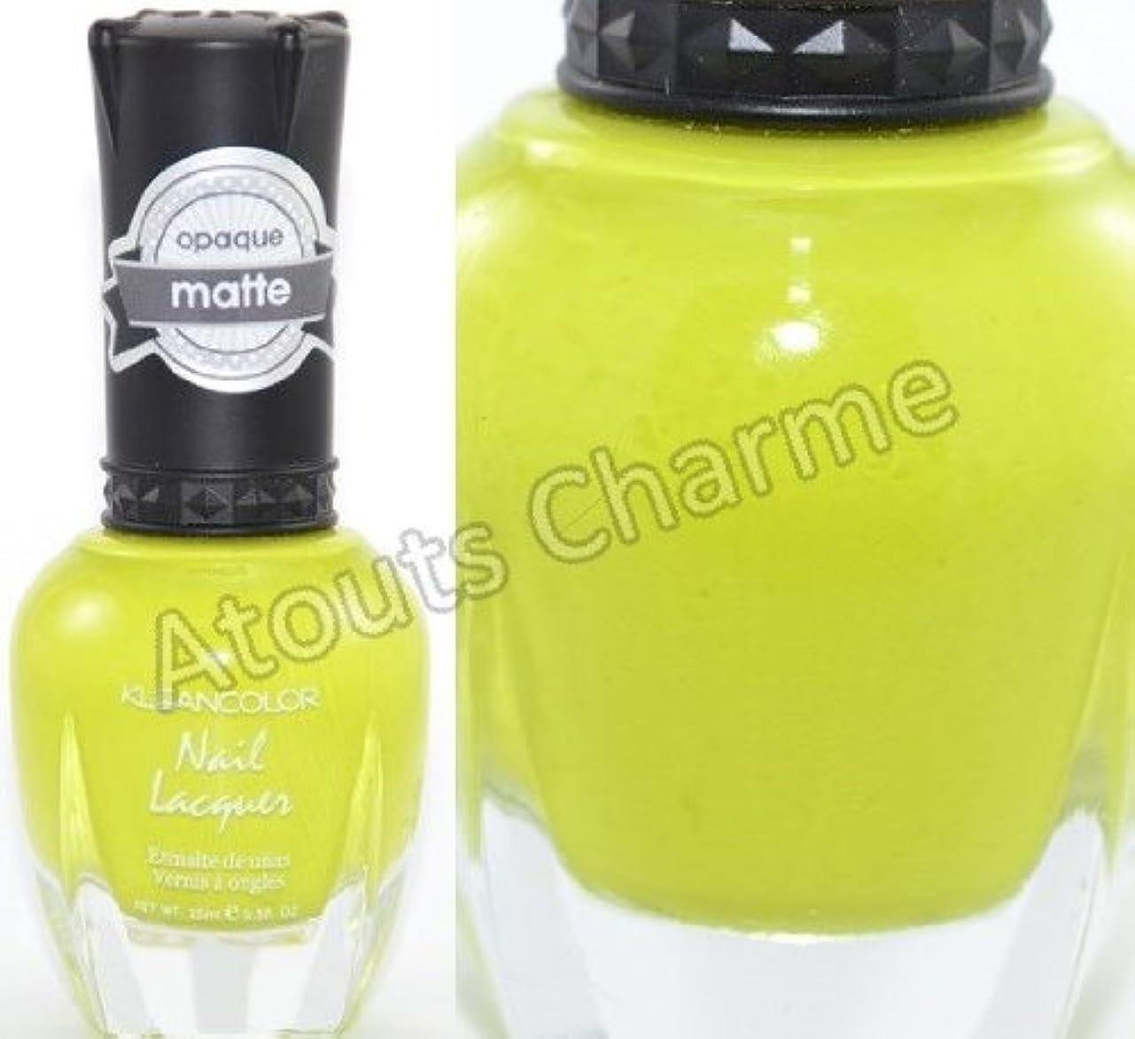 重々しい浸す人気KLEANCOLOR Matte Nail Lacquer - Lime Tickle (並行輸入品)