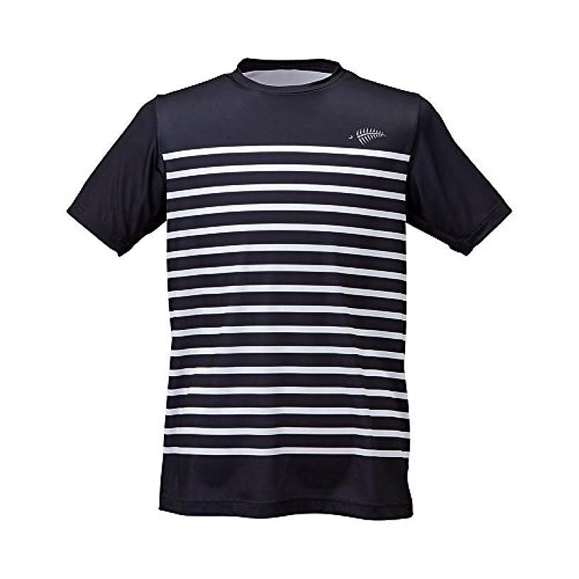 出席バドミントン選ぶフリーノット(FREE KNOT) SUNSHADE ボーダーTシャツ