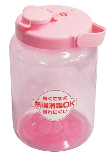 耐熱 果実酒びん 丸型 2.4L ピンク
