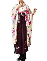 [アリサナ]arisana 卒業式 袴 セット 小学校 小学生 女の子 和服 卒業 (着物+半襟付き襦袢+袴+帯枕付き帯+腰紐x2の6点)