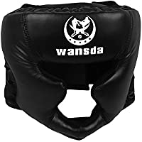Sopear PUレザーパッド入りボクシングHeadgear HeadguardヘルメットKick Boxing Pretectionギアfor SparringムエタイテコンドーフリーFight