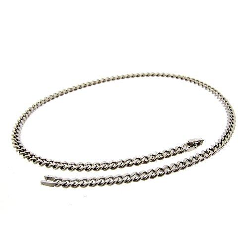 [해외]순수 티타늄 목걸이 2면 컷트 키 헤이 7.3mm 폭/Pure Titanium Necklace 2 Surface Cut Kihei 7.3 mm Width
