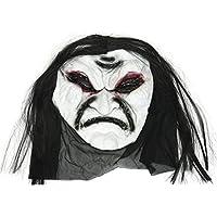 ハロウィーン ホラーブラックロングヘアマスク1パック おもちゃ雑貨用品 お祭り 宴会 文化祭 スタイルB19
